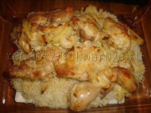 Курица порционная в духовке рецепт