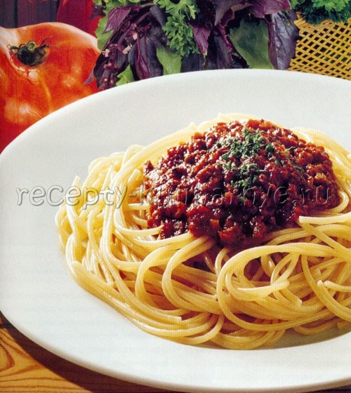 Рецепт спагетти болоньезе рецепт с пошагово
