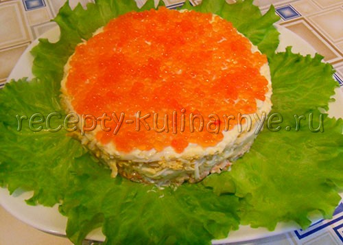 Креветки под шубой рецепт пошагово