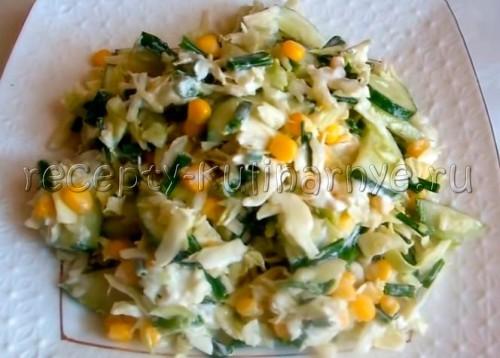 Простой и вкусный овощной салат для похудения