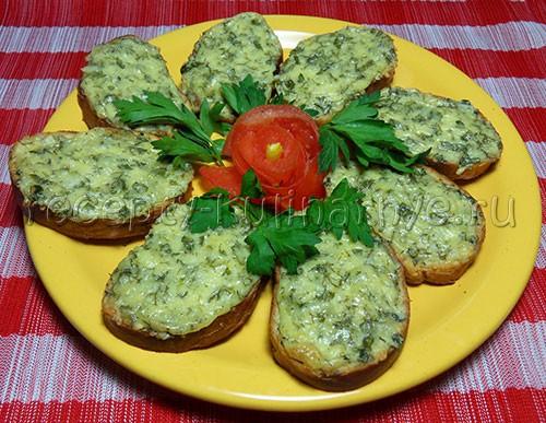 Рецепт - Горячие бутерброды с зеленью и сыром - Фото 1
